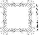 frame border design vector... | Shutterstock .eps vector #680363389