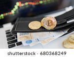 virtual currency wallet.... | Shutterstock . vector #680368249