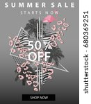 summer sale banner with...   Shutterstock .eps vector #680369251
