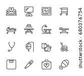 hospital and medical equipment... | Shutterstock .eps vector #680376754
