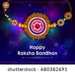 elegant rakhi for brother and... | Shutterstock .eps vector #680382691