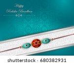 elegant rakhi for brother and... | Shutterstock .eps vector #680382931