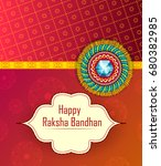 elegant rakhi for brother and... | Shutterstock .eps vector #680382985
