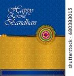 elegant rakhi for brother and... | Shutterstock .eps vector #680383015