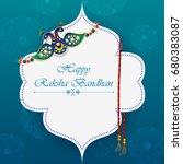 elegant rakhi for brother and... | Shutterstock .eps vector #680383087