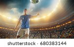football player about to kick... | Shutterstock . vector #680383144