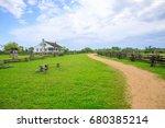 Rural Landscape House Blue Sky