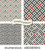set of abstract geometric... | Shutterstock .eps vector #680385841