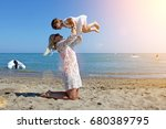 mother and daughter have fun... | Shutterstock . vector #680389795