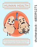 human health poster with sick... | Shutterstock .eps vector #680391271