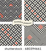 set of abstract geometric... | Shutterstock .eps vector #680394661