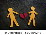 man and woman paper couple with ... | Shutterstock . vector #680404249