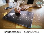 business concept background.... | Shutterstock . vector #680408911
