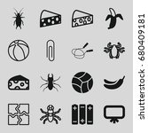 painting icons set. set of 16... | Shutterstock .eps vector #680409181