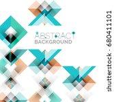 modern square geometric pattern ... | Shutterstock . vector #680411101