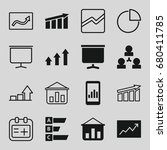 chart icons set. set of 16... | Shutterstock .eps vector #680411785