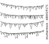decoration to event birthday... | Shutterstock .eps vector #680419171