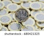 heap of money. british pound... | Shutterstock . vector #680421325
