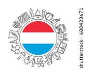 vector luxembourg school... | Shutterstock .eps vector #680423671