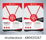 flyer design template vector ... | Shutterstock .eps vector #680425267