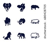 zoo icons set. set of 9 zoo... | Shutterstock .eps vector #680428705