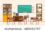 school classroom with... | Shutterstock .eps vector #680431747