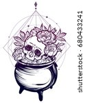 vector illustration. halloween. ... | Shutterstock .eps vector #680433241
