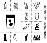bottle icon. set of 13 filled... | Shutterstock .eps vector #680439601