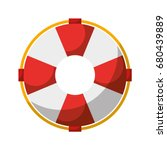 float lifeguard isolated icon | Shutterstock .eps vector #680439889