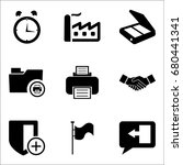 set of 9 miscellaneous icons... | Shutterstock .eps vector #680441341