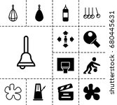 action icon. set of 13 filled... | Shutterstock .eps vector #680445631
