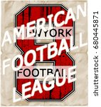athletic sport typography  t...   Shutterstock .eps vector #680445871