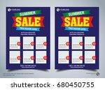 flyer design template vector ... | Shutterstock .eps vector #680450755