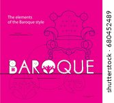 elements of the baroque style | Shutterstock .eps vector #680452489