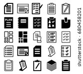 list icons set. set of 25 list... | Shutterstock .eps vector #680458201