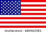 american flag vector | Shutterstock .eps vector #680462581