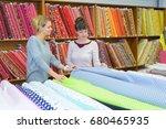 linen wholesaler factory   Shutterstock . vector #680465935