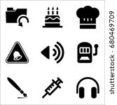 set of 9 miscellaneous icons... | Shutterstock .eps vector #680469709