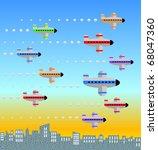 graphic illustration of ten...   Shutterstock .eps vector #68047360