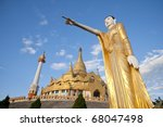 Old Temple in Chaengtung, Myanmar - stock photo