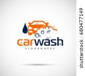 car wash logo template. car... | Shutterstock .eps vector #680477149