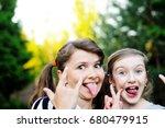 two adorable school age kid... | Shutterstock . vector #680479915