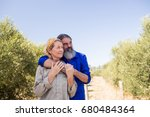 thoughtful couple standing in... | Shutterstock . vector #680484364