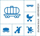 carriage icon. set of 6... | Shutterstock .eps vector #680484814