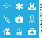 doctor icons set. set of 9... | Shutterstock .eps vector #680485141
