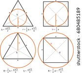 circle  triangle and square. ... | Shutterstock .eps vector #680485189