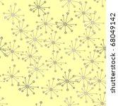 seamless beige jacks on yellow | Shutterstock . vector #68049142