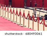 way to success on the red... | Shutterstock . vector #680493061
