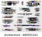 glitch elements set. computer... | Shutterstock .eps vector #680501161