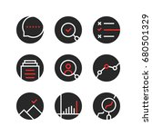 set of round assessment and... | Shutterstock .eps vector #680501329